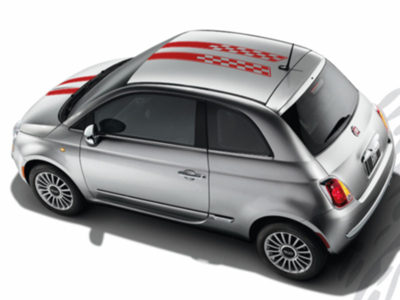 2013 Fiat 500-Sport Decal Kit - Double Red Racing 82212658