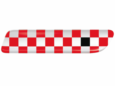 2012 Fiat 500-Sport Bodyside Molding Insert, Red Checker-Blac 82212750