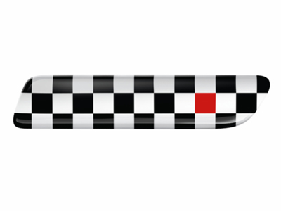 2013 Fiat 500-Pop Bodyside Molding Insert, Black Checker-Red  82212754