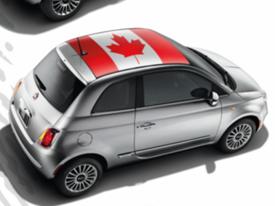 2013 Fiat 500-Abarth Decal Kit - Canadian Flag 82212785