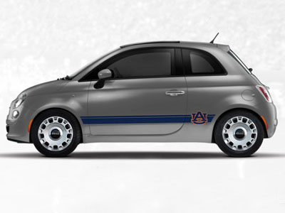 2013 Fiat 500-Pop NCAA Bodyside Graphic - Auburn 82214160