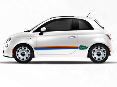 2013 Fiat 500-Sport NCAA Bodyside Graphic - Florida 82214154
