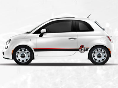 2014 Fiat 500-Abarth NCAA Bodyside Graphic - Georgia 82214152