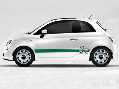 2013 Fiat 500-Pop NCAA Bodyside Graphic - Notre Dame 82214153