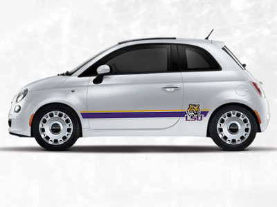 2014 Fiat 500-Pop NCAA Bodyside Graphic - Louisiana State 82214176